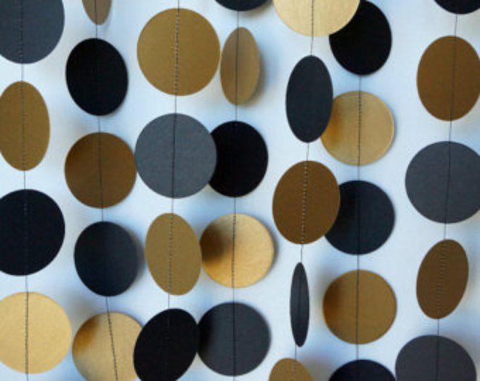 Schwarz und gold graduierung girlande papier kreis for Dekoration ruhestand