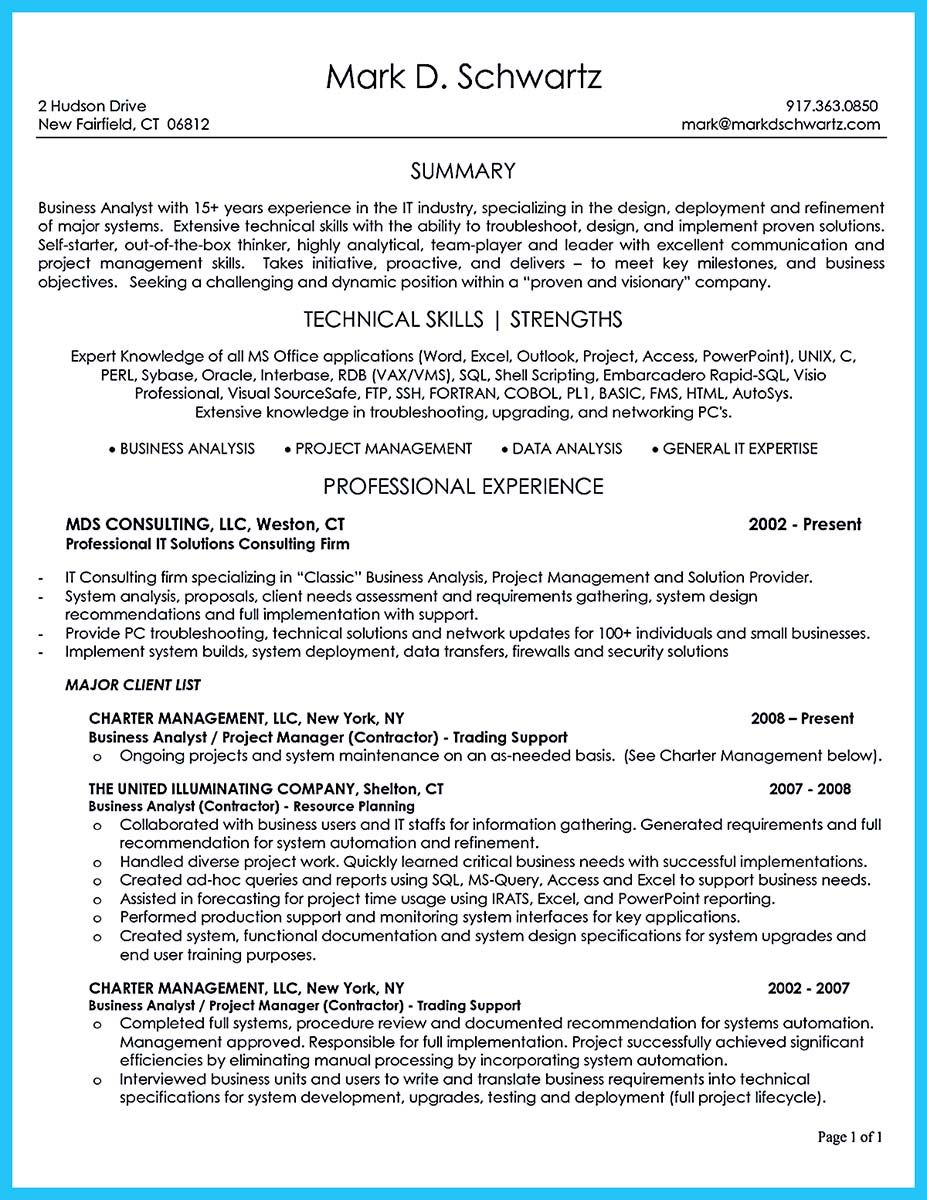Business Systems Analyst Resume Nice Best Secrets About Creating Effective Business Systems