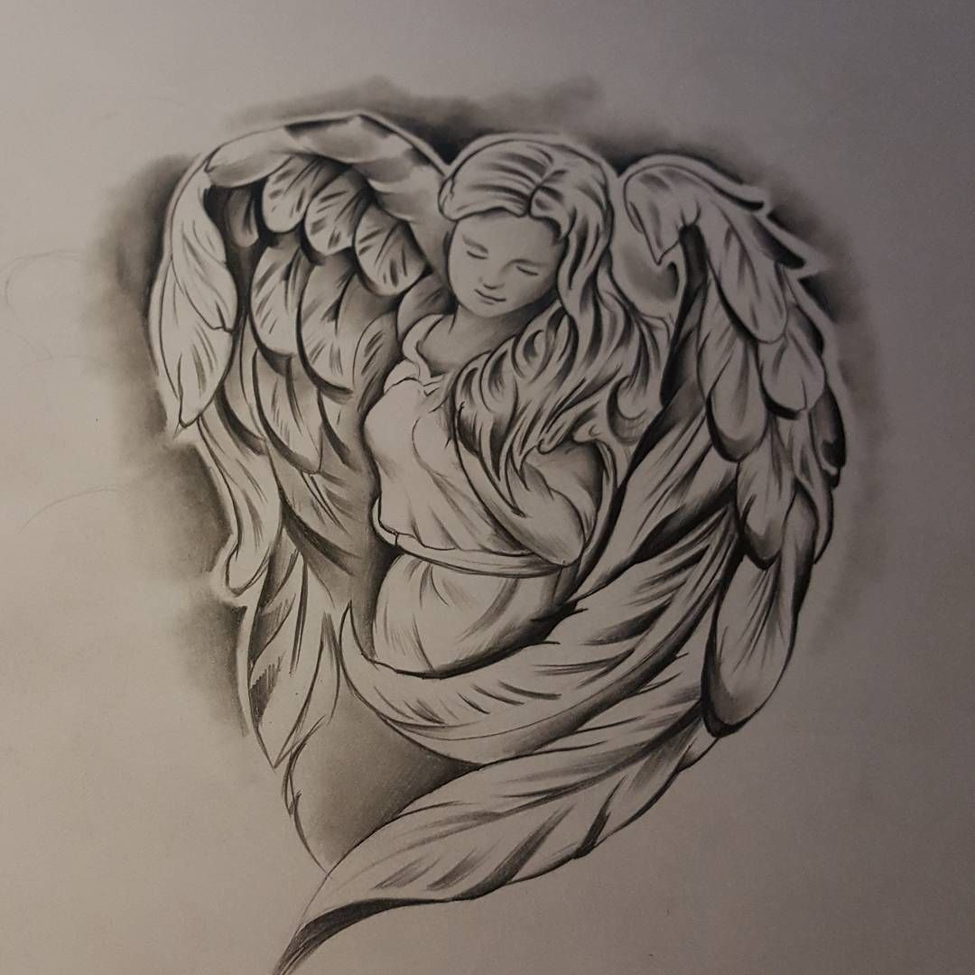 Angel#tattoos #tatuajes #ink #inked #tinta #draw