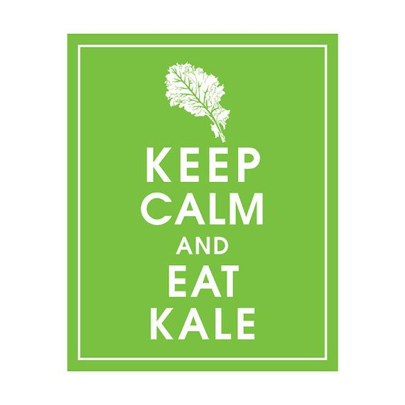Keep Calm and Eat Kale  8x10 Art Print featured in by KeepCalmShop, $10.95