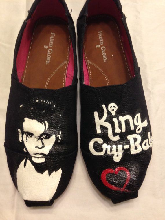 c53fb87e3d42 I Heart Cry Baby Toms style Shoes by SpeakMyLanguage on Etsy