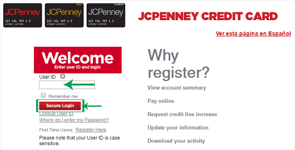 Jcpenney Credit Card Login Pay Online Payment Apply Online Espanol