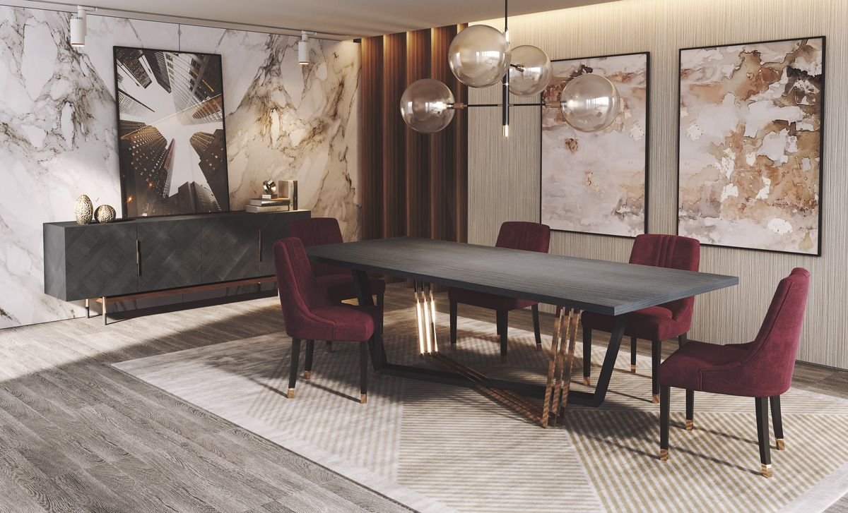 Ruby dining room ambience laskasas decorate life grey and ruby dining room ambience laskasas decorate life grey and burgundy go together like almost no other two colours a powerfully put together piece of dzzzfo
