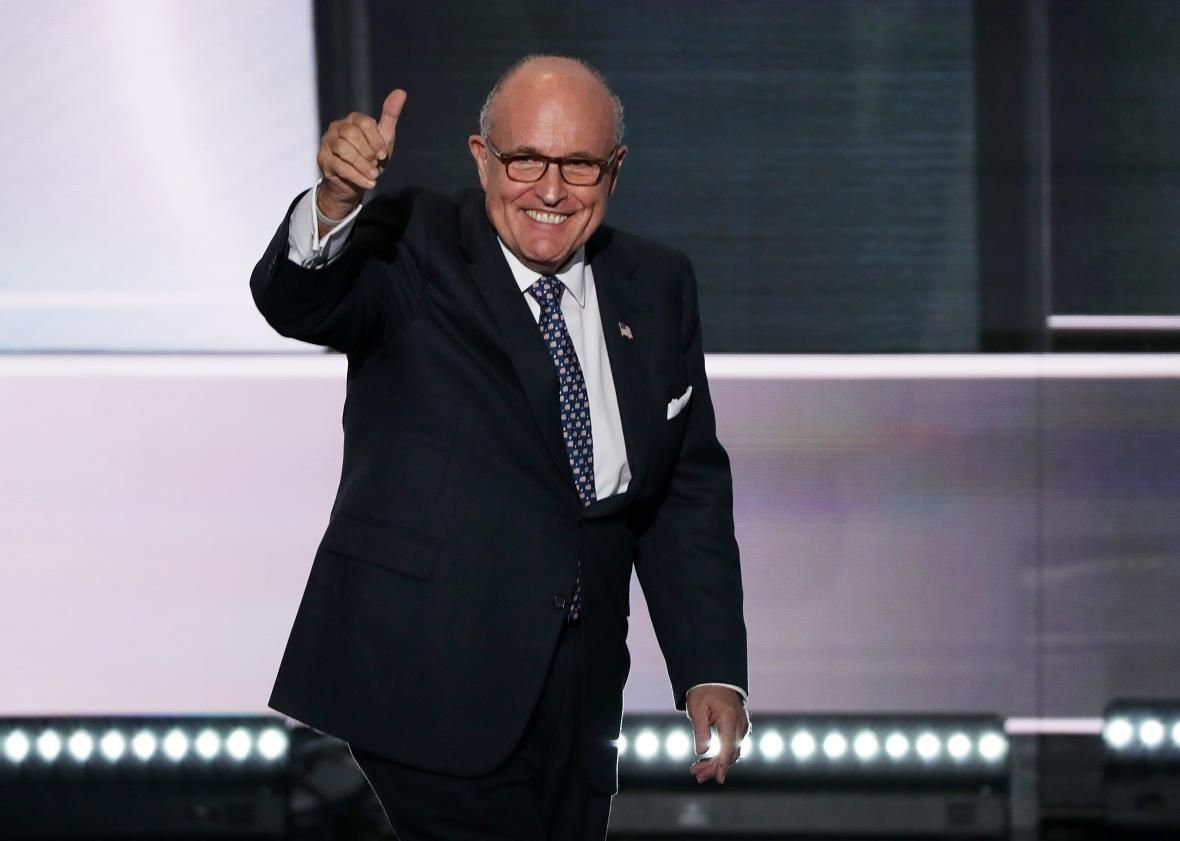 Rudy Giuliani Was Full Of Fire Brimstone And Nonsense Rudy Giuliani Interview Outfit Professional Liberal Humor