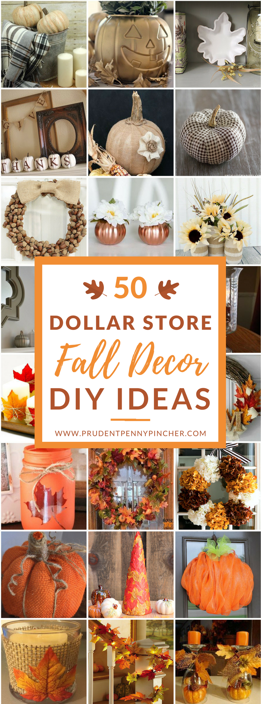 50 Dollar Store Fall Decor Diy Ideas Thanksgiving Fall