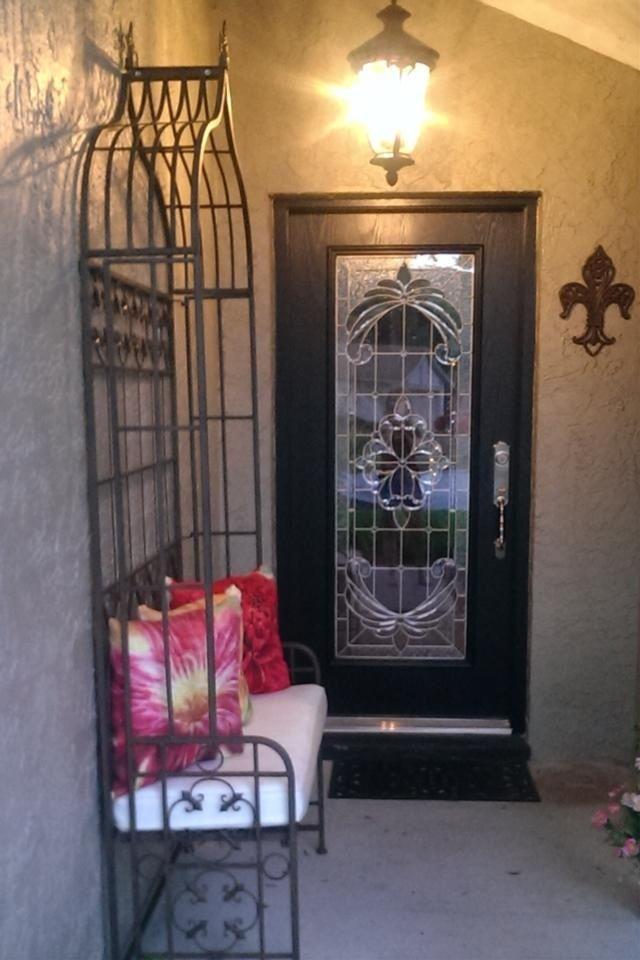 Odl Expressions Door Glass Insert In Nickel Caming Door