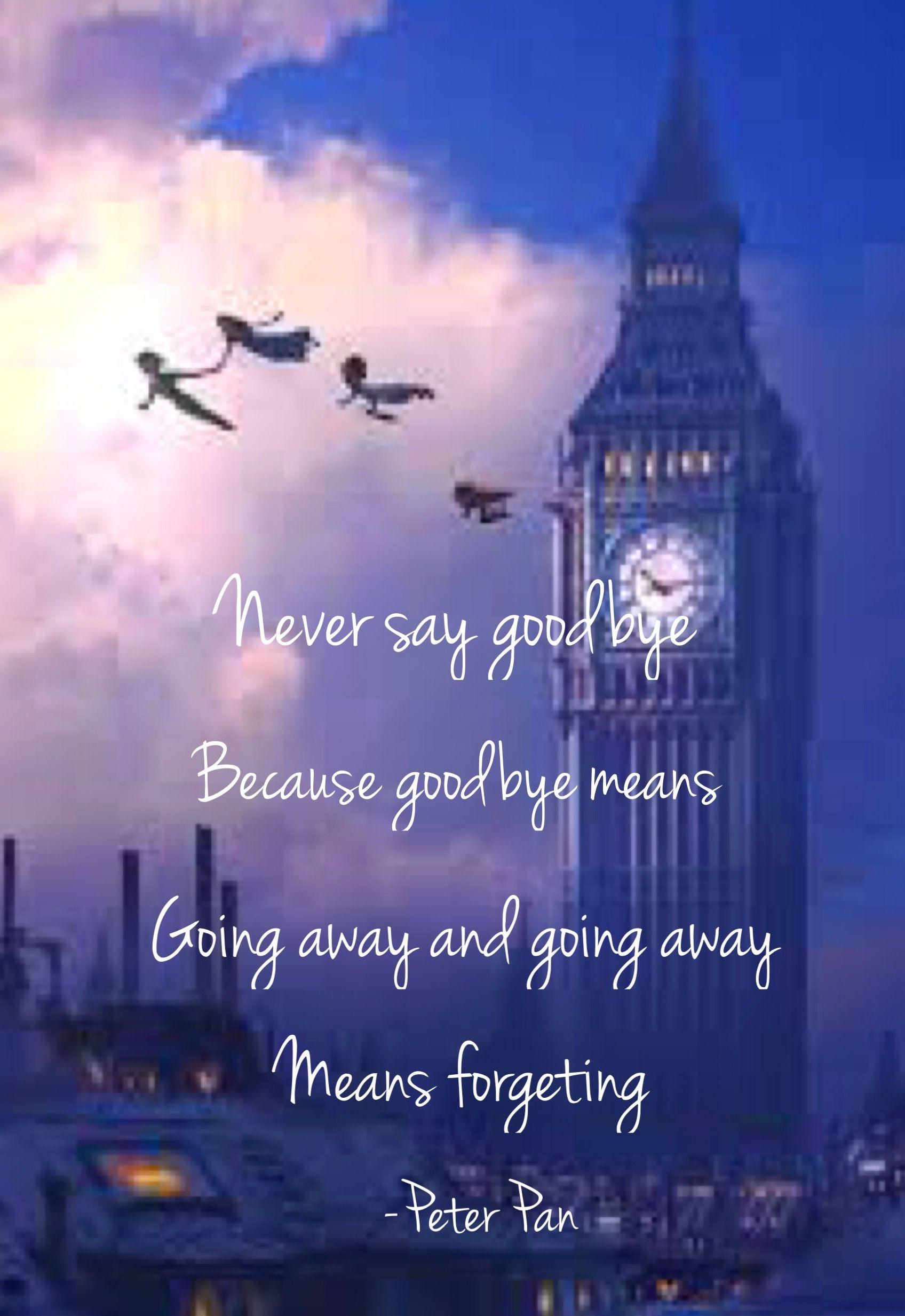 Peter Pan Never Say Good Bye Movies Peter Pan Disney