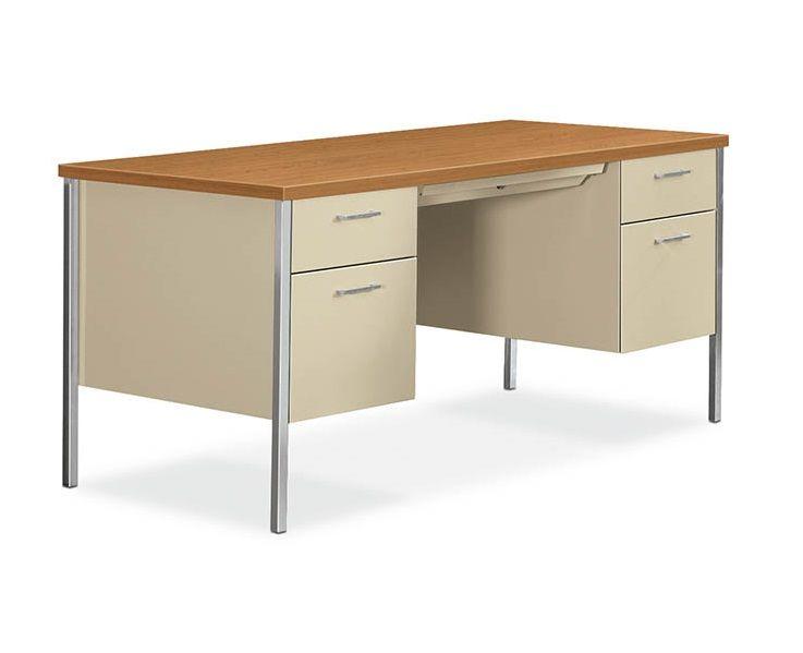34000 Series Double Pedestal Desk By Hon 30 X 60 H34962 83212 In 2019 Pedestal Desk Desk Metal Desks