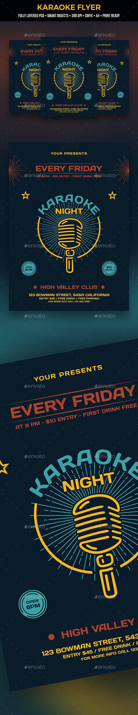 Karaoke Flyer Karaoke Event Flyers And Flyer Template