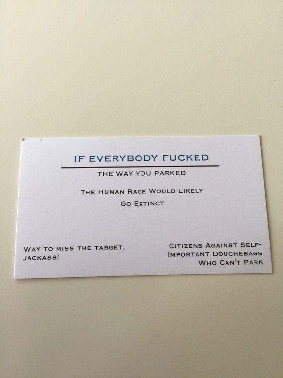 Prank Jokes FAKE TICKET FUNNY lol 25 Bad Parking Business Cards Gag Gift