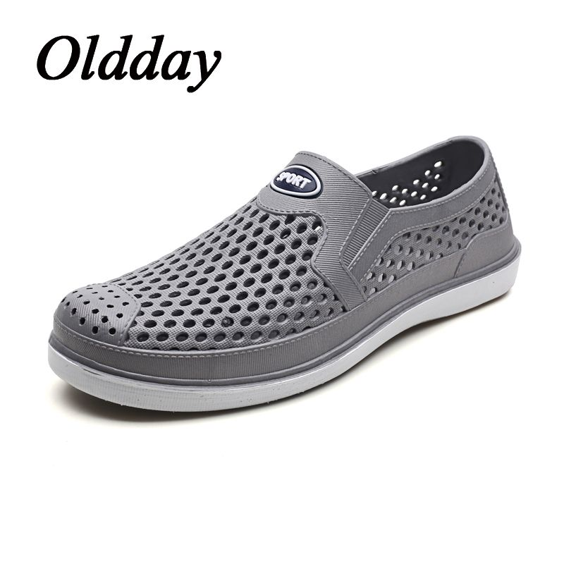 5d2b0ae7e5e9 2018 New Design Sandal Men Flat Slip on Beach Water Shoes for Man Summer  Outdoor Lightweight Casual Male Sandalias