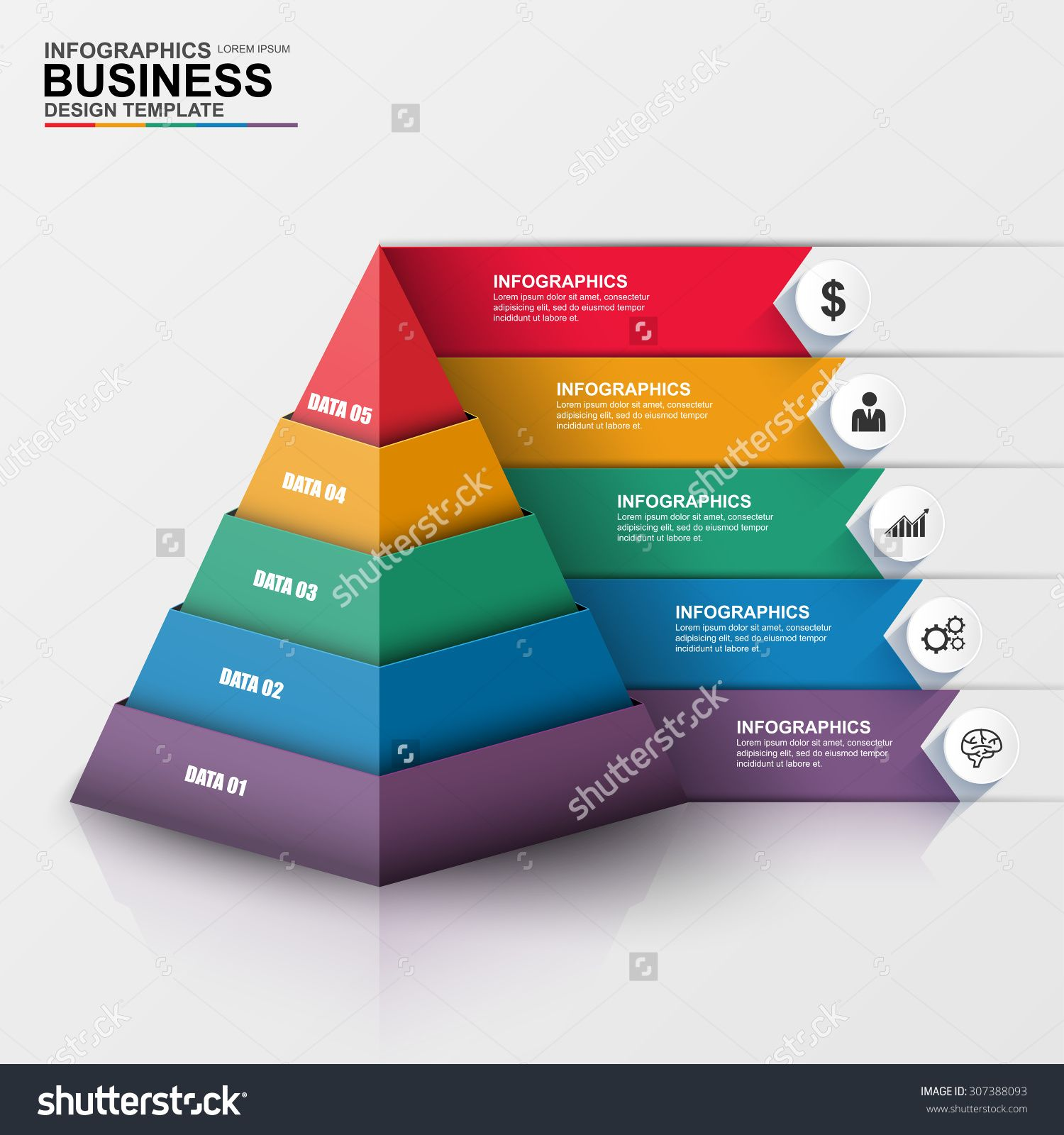 Abstract 3D digital business Infographic. Can be used for ...