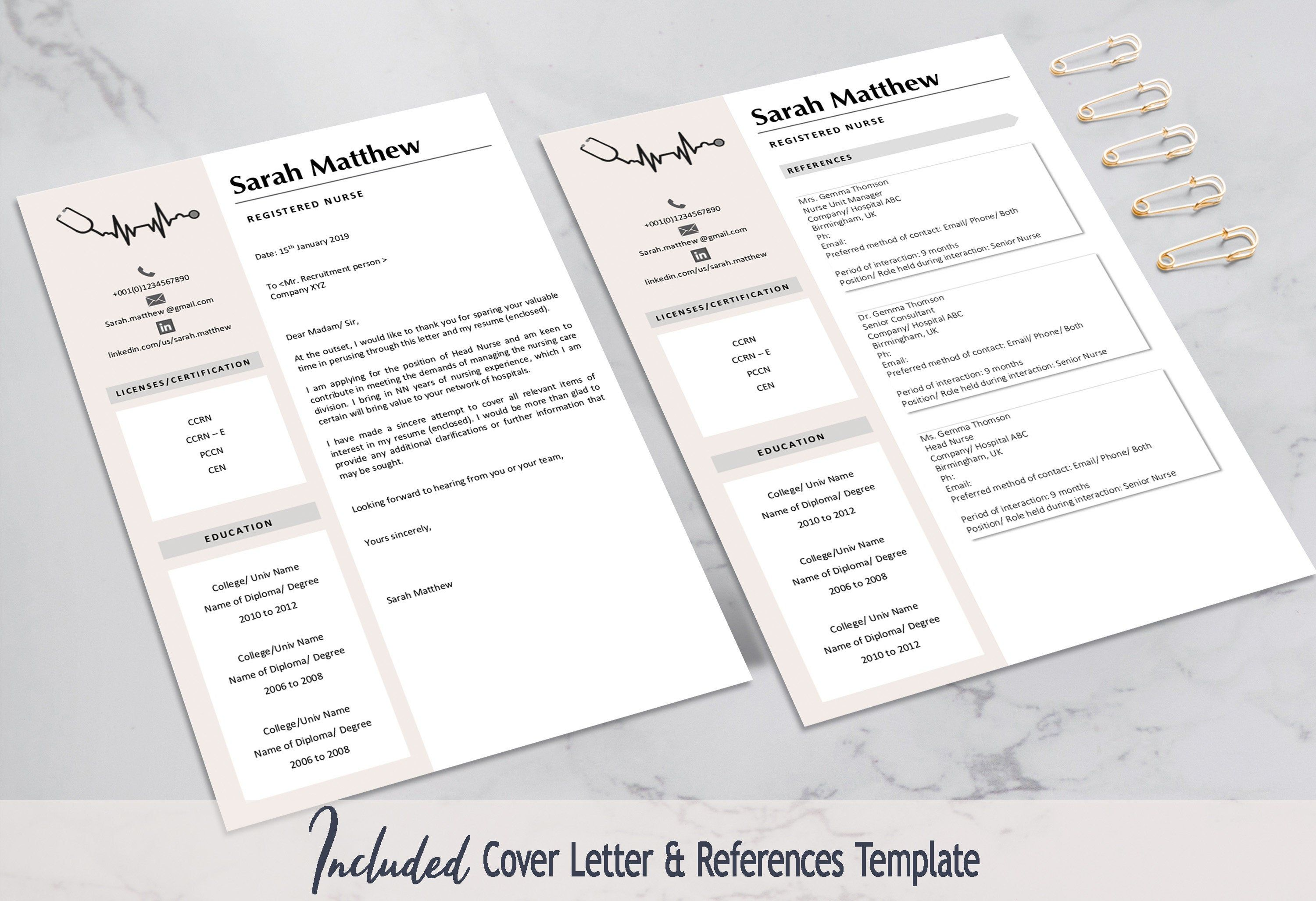 Registered Nurse Resume Template For Medical Medical Resume
