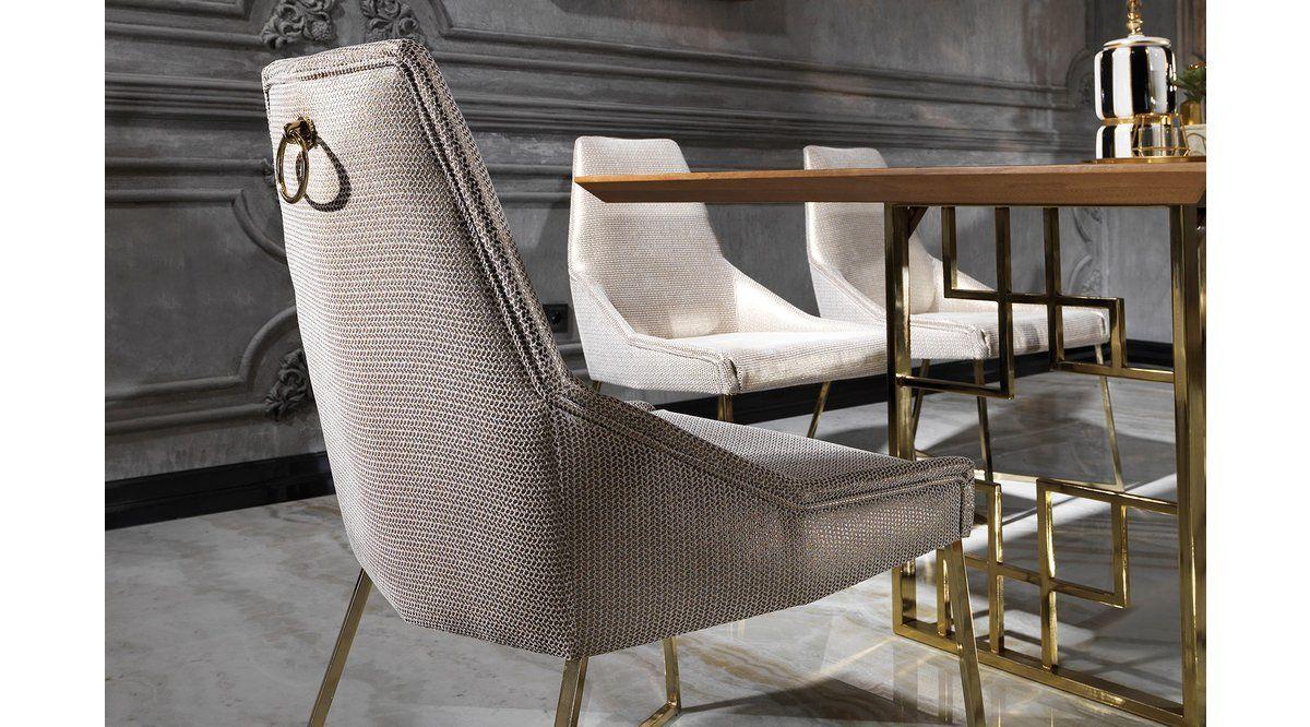 Versace Sandalye Parlak Gri 2020 Koltuklar Mobilya Sandalye