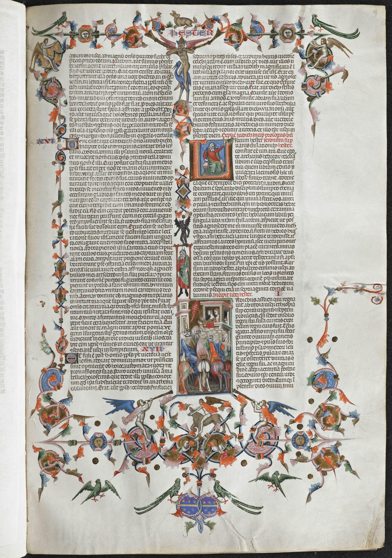Anjou Bible, folio 128r, KU Leuven Libraries, Maurits Sabbe