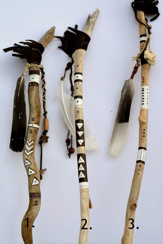 Photo of Handpainted Driftwood Talking Stick number 3 from the photo