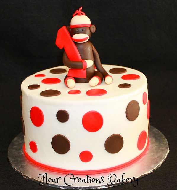 Super Sock Monkey 1St Birthday Cake Flickr Photo Sharing With Funny Birthday Cards Online Barepcheapnameinfo
