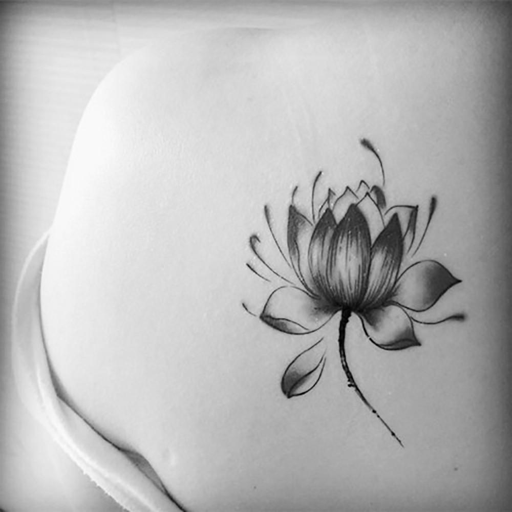 Buy Online Tattoo Sticker Waterproof Lotus Flower Temporary Body A