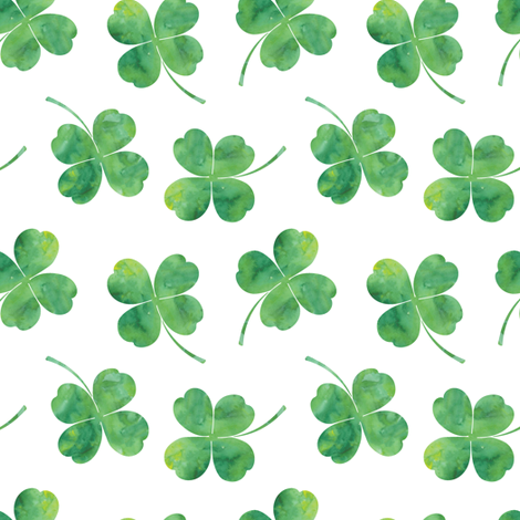 Colorful Fabrics Digitally Printed By Spoonflower Shamrock Toss Watercolor White St Patricks Day Wallpaper Shamrock Clover Leaf