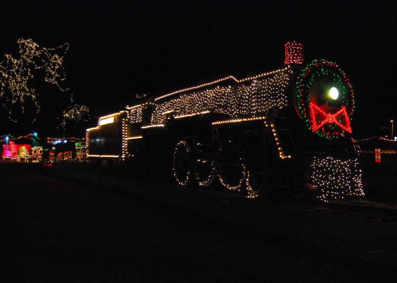Christmas Train Whistle Stop Hulen Park Cleburne Tx
