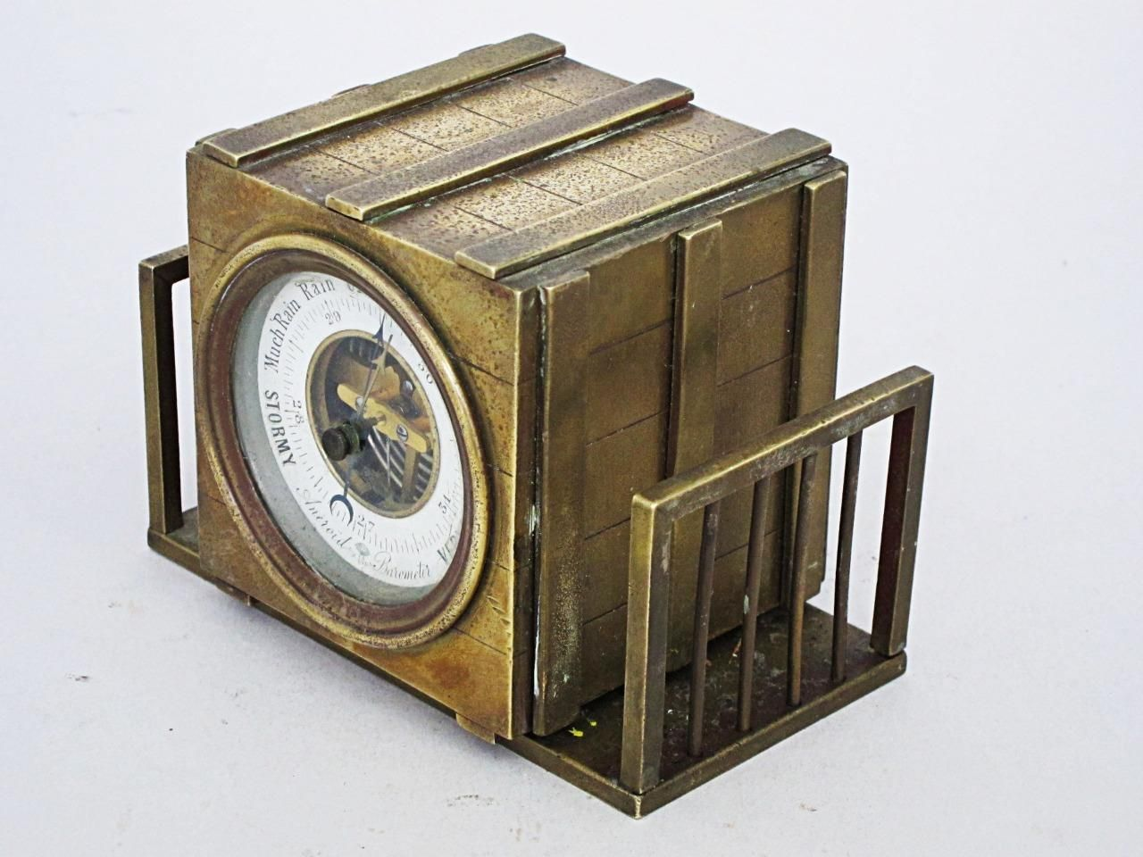Unusual Desks most unusual antique brass desk top barometer 1880 packing crate
