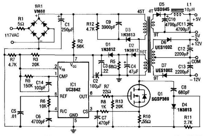 5 și 12V Ac alimentare comutare de alimentare Power Supply