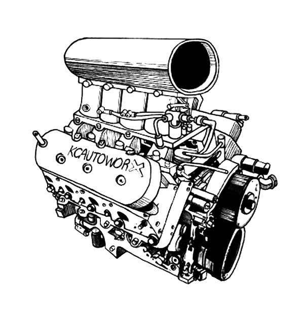 - Car Engine Blower Parts Coloring Pages : Best Place To Color In 2020 Coloring  Pages, Car Engine, Color