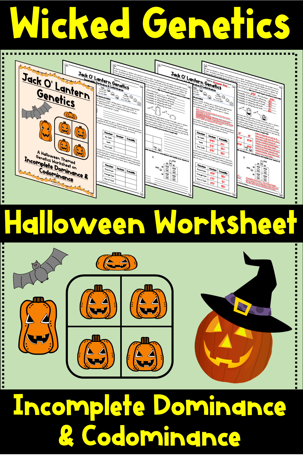 Halloween Genetics Worksheet Incomplete Dominance