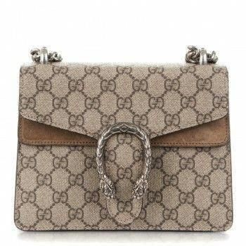 bd6177b62552 GUCCI GG Supreme Monogram Mini Dionysus Shoulder Bag Taupe #Guccihandbags