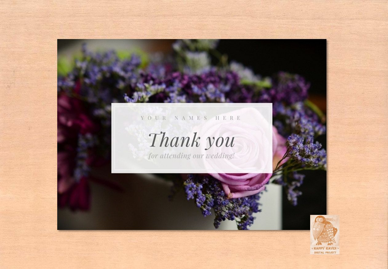 personalized cards thank you for attending our wedding card with