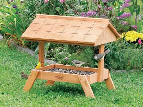 Ground Feeder With Roof Ray S Honey Do List Mangeoire