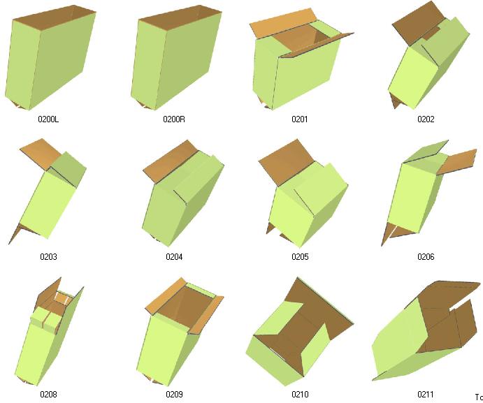 fefco 3D box template | CMYKrave Inspiration | Pinterest | Box ...