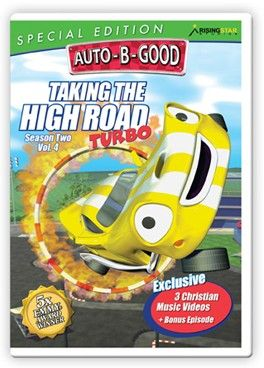 Auto-B-Good: Taking the High Road Turbo Special Edition // It's race time! Join Johnny while he races against the best in the world as the City of Auto celebrates the opening of the new Morales Highway. Will the other cars cheat to win or will Johnny prove victorious? Children will learn about goodness, dignity and integrity. With a bonus episode that teaches courtesy and 3 brand-new music videos wrapping up each episode, this video is full of fun and packed with life changing values!