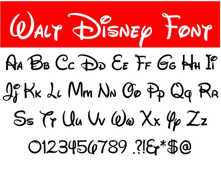 walt disney fonts - Onwebioinnovate