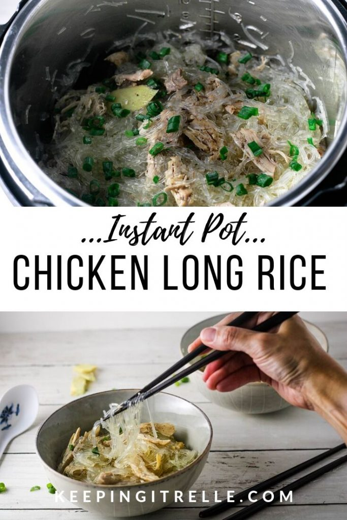 Easy Instant Pot Chicken Long Rice #hawaiianfoodrecipes