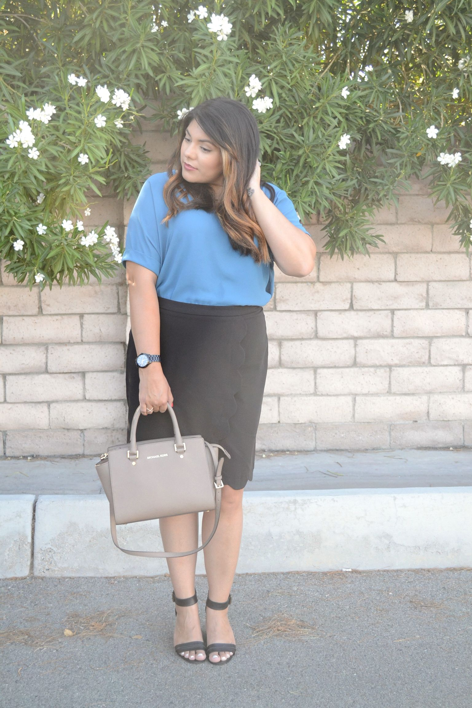 Business Casual Style | Black Pencil Skirt | ASOS Skirt | The Adorned Life