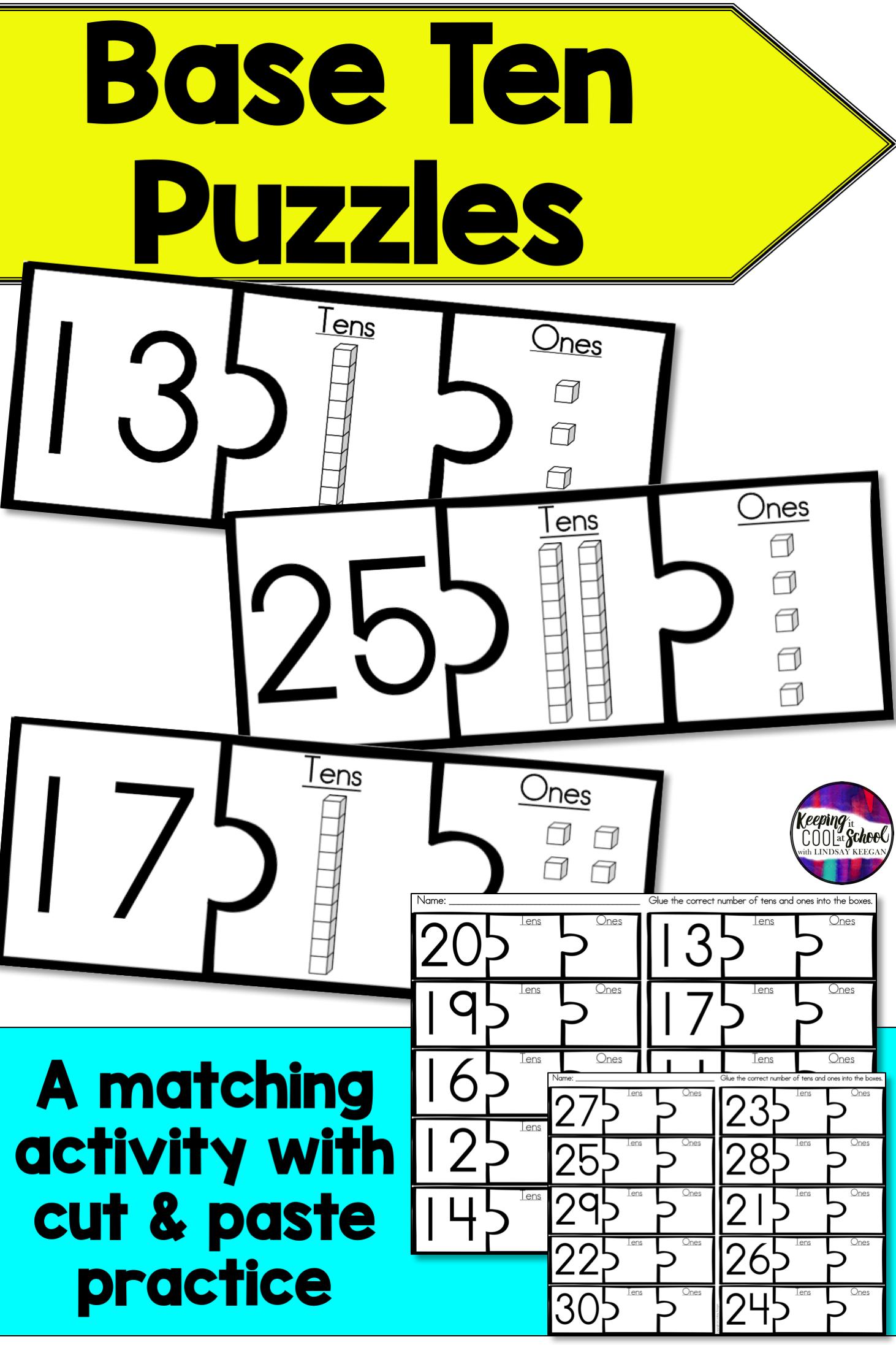 Base Ten Blocks Puzzles