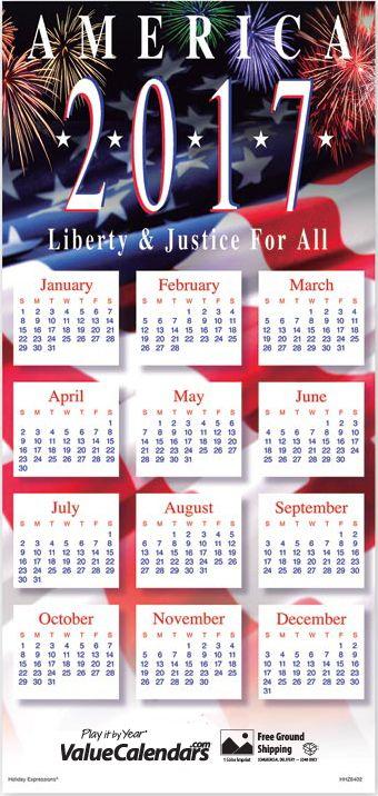 Liberty justice greeting card calendars personalized greeting card calendar personalised holiday card calendars promotional business calendars