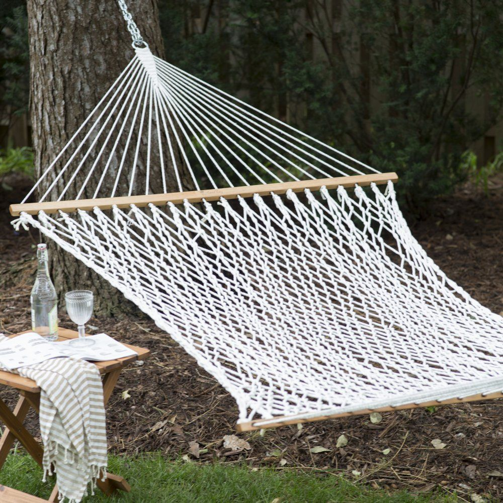 Island bay xl thick rope hammock with free hanging hardware you