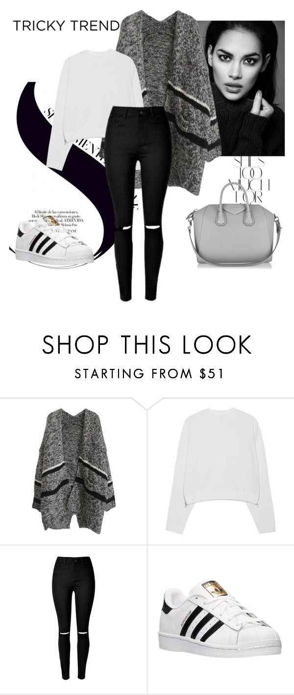 """""""Untitled #94"""" by merimaa997 ❤ liked on Polyvore featuring Rika, Acne Studios, adidas, Givenchy and yoins"""