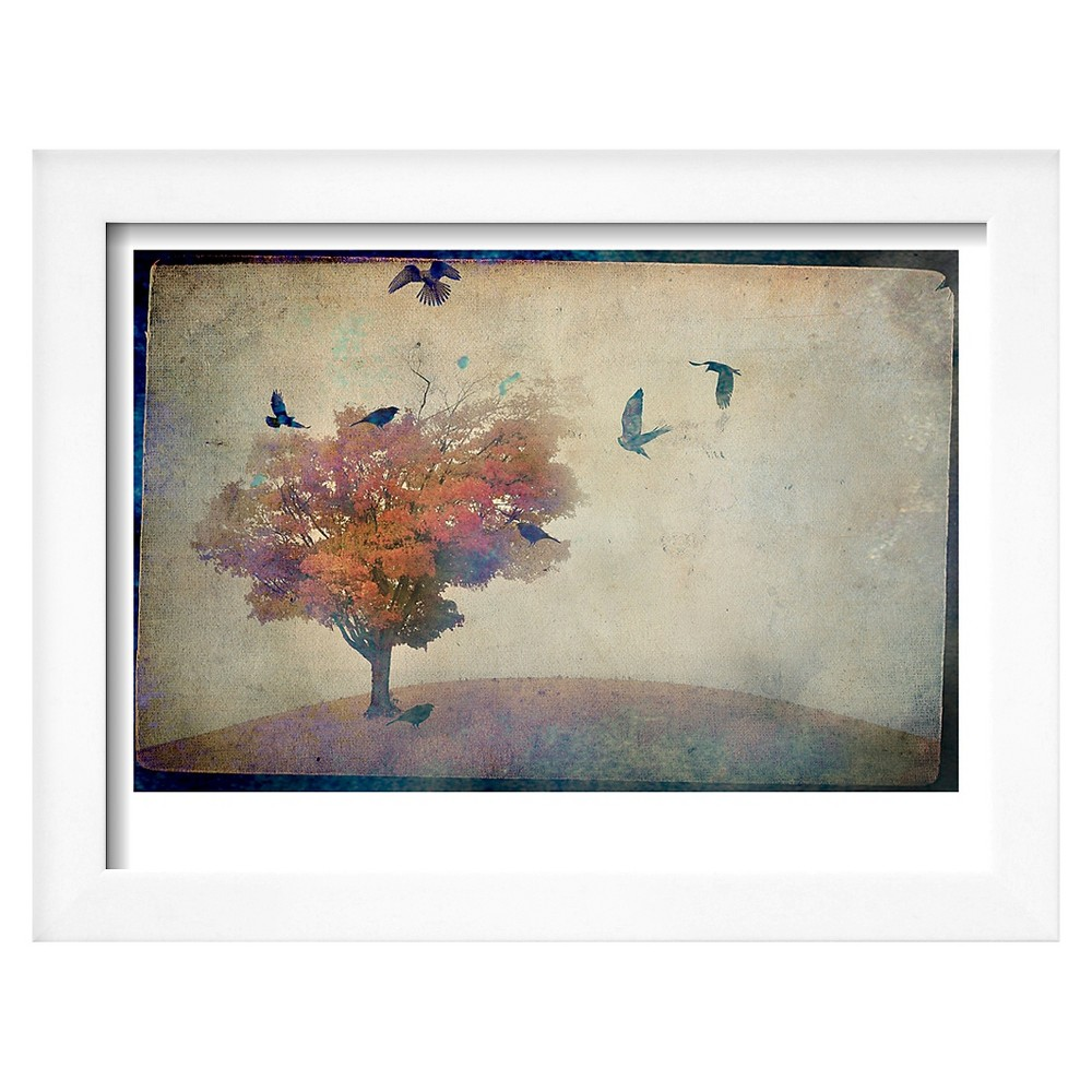 Art oversized crows flying from tree variation parent