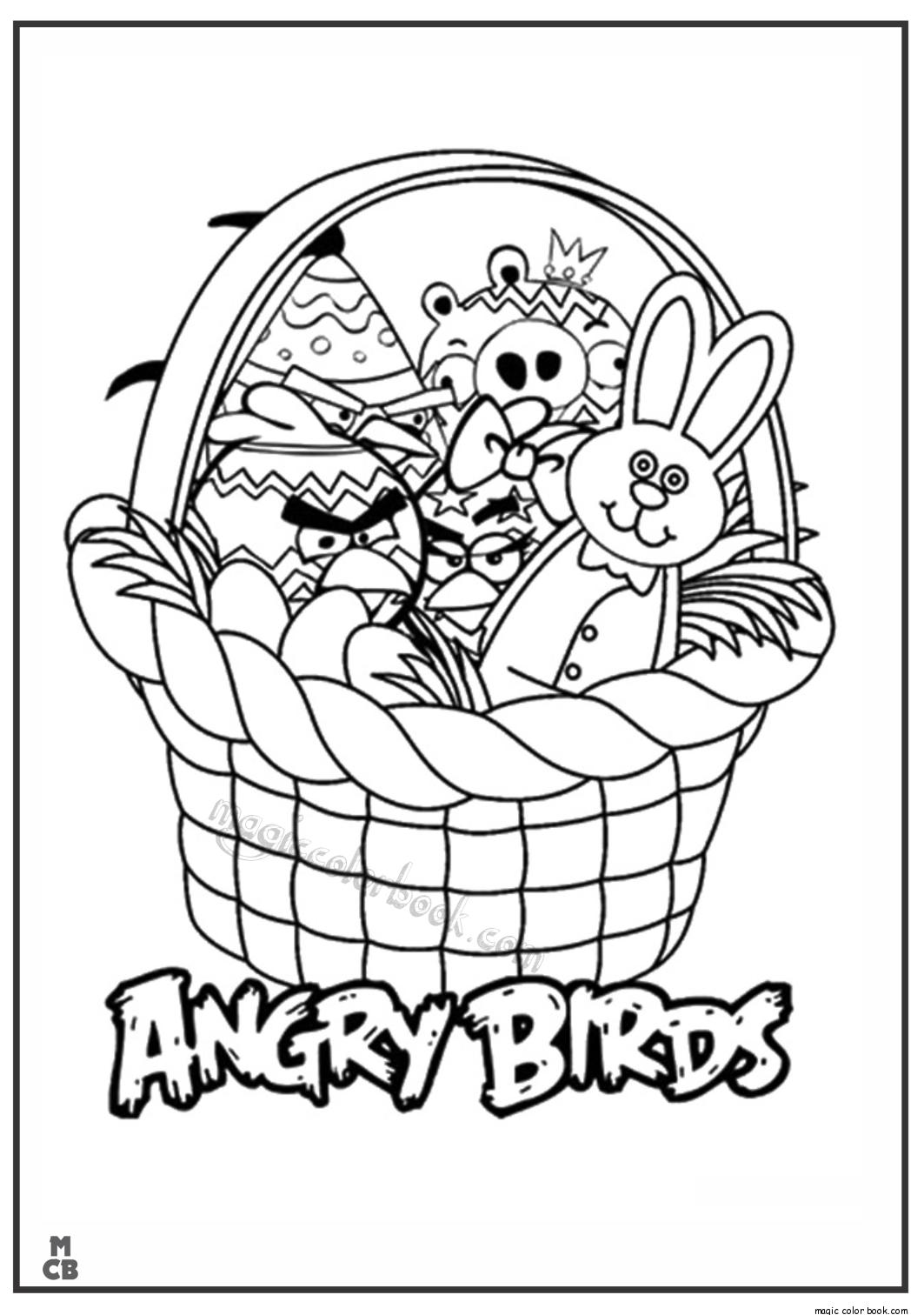 Pin de Magic Color Book en Angry Birds Coloring pages | Pinterest