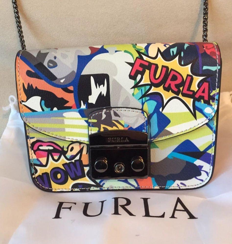 0dd2b661e51e NEW FURLA Metropolis Multicolor Graffiti Mini Crossbody Bag #Furla  #Crossbody