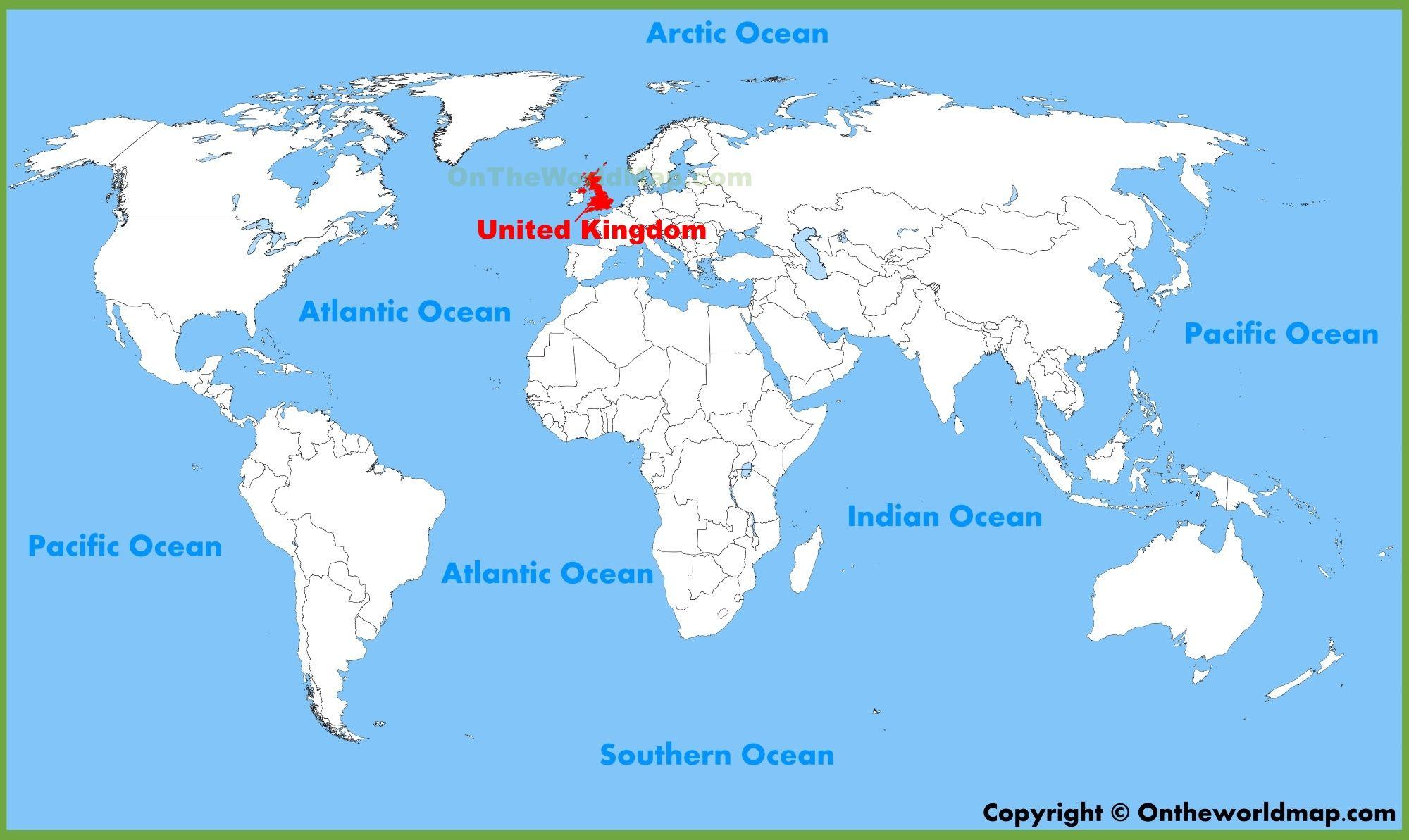 United Kingdom UK Location On The World Map The United Kingdom - United kingdom europe map