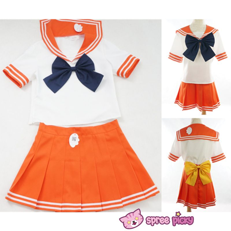 Hot femme Sailor Moon school uniform sailor costume Cosplay costume Robe Tops