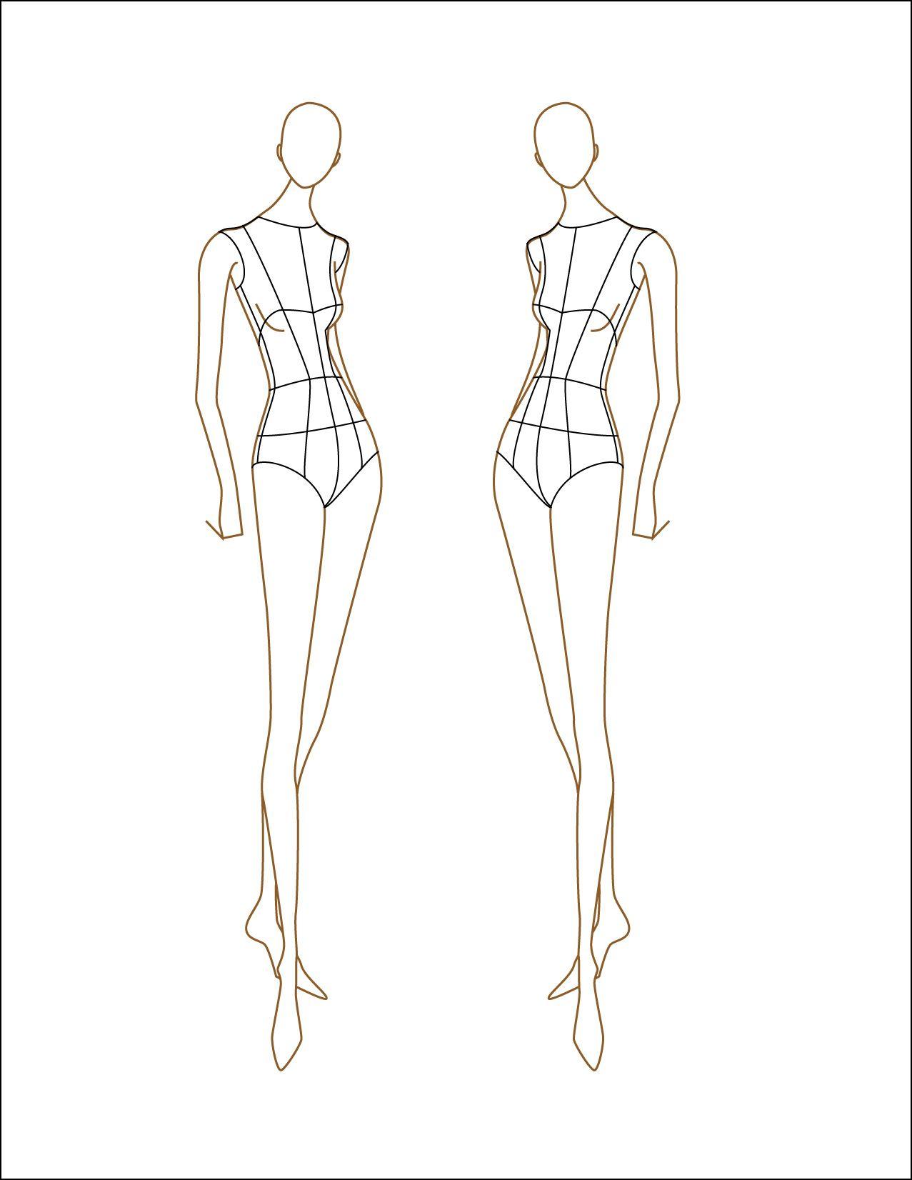 Female fashion figure croqui 2f496de0230