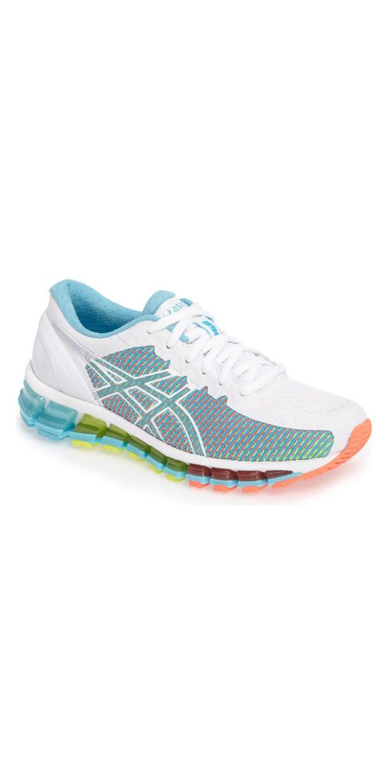 6fbf113dd3a93 ASICS GEL-Quantum 360  Rock every color on the unicorn-lover s rainbow with  these Technicolor running shoes. Cushy soles stabilize your feet for every  run ...