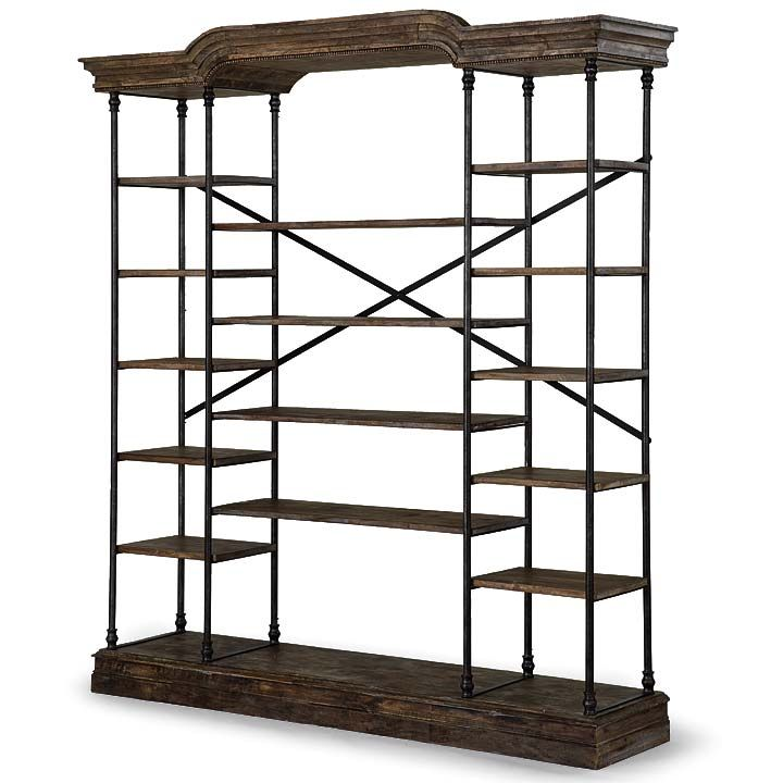 44-61-0171 Chateau Etagere W 86 D 21 H 94.5 #7Foot $3747.50 #OpenShelving #FrenchCasingShelves