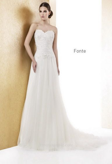 Cabotine Bridal Gown Style - Fonte | Wedding dress ideas | Pinterest ...