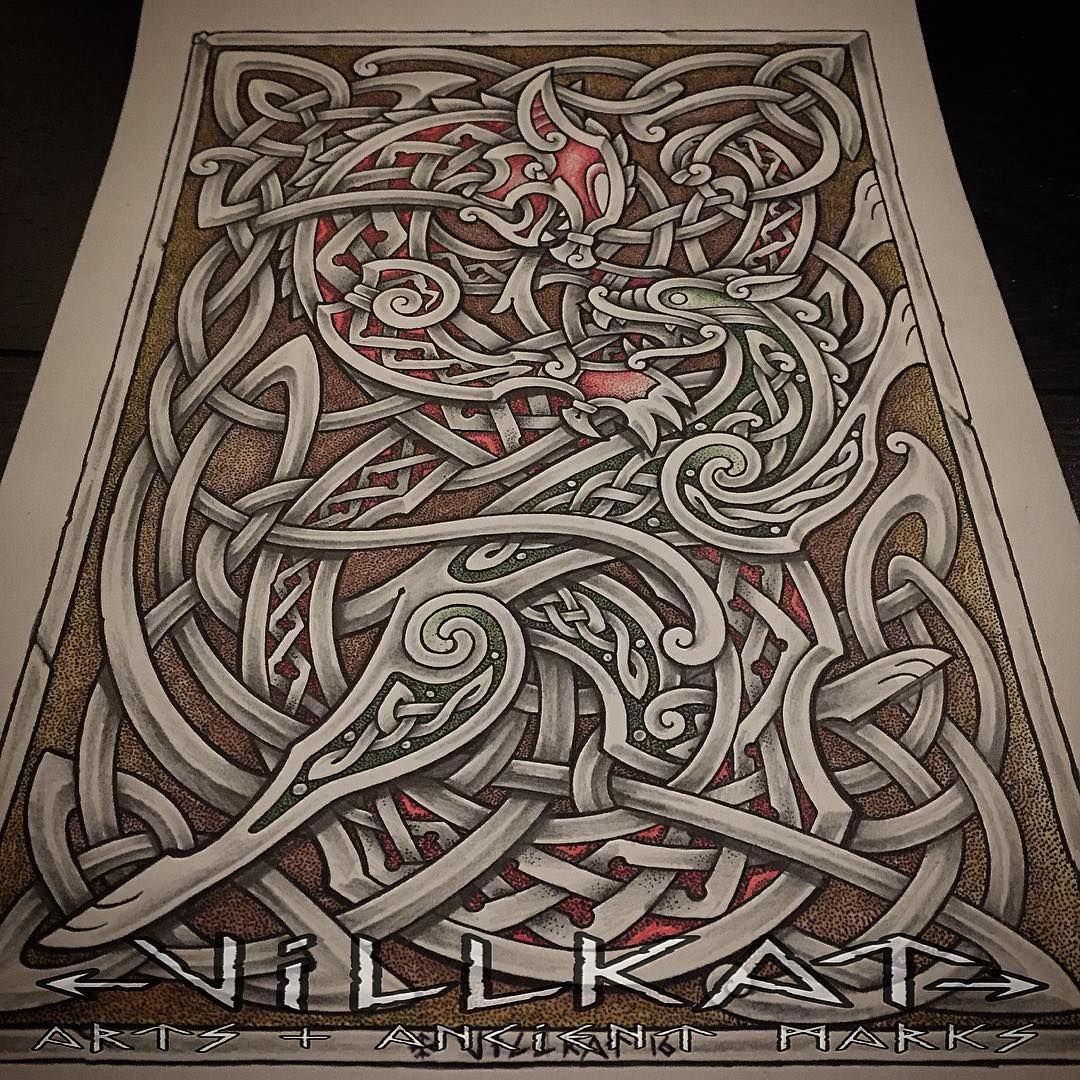 See This Instagram Photo By Villkat Arts 404 Likes Norse Tattoo Celtic Art Nordic Tattoo